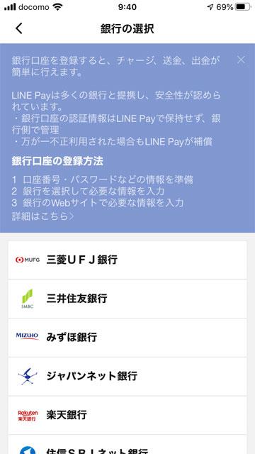 各銀行のサイトで必要な情報を入力して下さい。